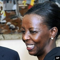 Rwanda's foreign minister Louise Mushikiwabo in Kigali (File)