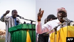 Zéphirin Diabré, et Eddie Komboïgo lors de leur meeting respectif en novembre 2020.