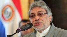 Paraguay's President Fernando Lugo in Asuncion, June 21, 2012 (AP).