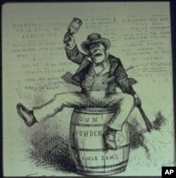 An unflattering political cartoon from 1871 titled 'The Usual Irish Way of Doing Things,' by Thomas Nast.