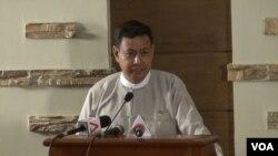 U Ye Htut, Menteri Informasi Myanmar (Foto: dok).