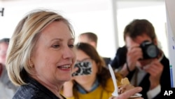 Democratic presidential candidate Hillary Rodham Clinton, May 22, 2015.