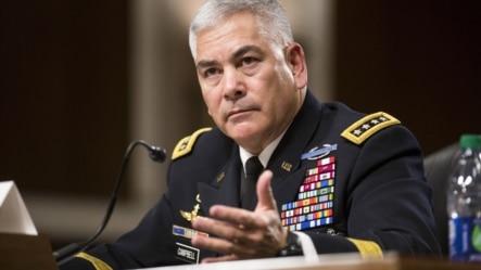 驻阿富汗美军最高将领坎贝尔将军在美国会参议院军事委员会作证 (2015年10月6日)