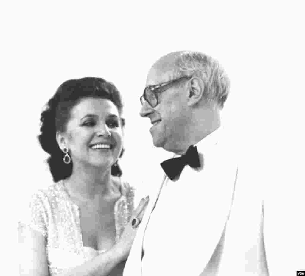 Qalina Vişnevskaya və Mstislav Rostropoviç