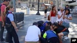 巴塞羅那發生汽車衝撞行人的恐襲事件
