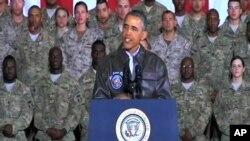 El presidente Obama en su reciente visita a Afganistán, en víspera del Memorial Day.