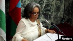 La présidente éthiopienne Sahle-Work Zewde devant le parlement le jour de son investiture, Addis-Abeba, 25 octobre 2018. (Reuters)