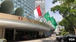 新加坡香格里拉酒店。(美國之音黎堡)