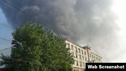 中国浙江省丽水市经济开发区南明化工厂发生爆炸现场照片 (网络照片)