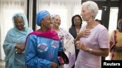 Christine Lagarde, Douala au Cameroun, le 9 janvier 2016.