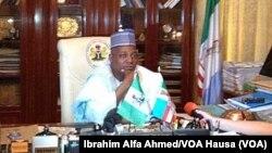 Gwamnan jihar Borno Ibrahim Shettima a Maiduguri, Mayu 22, 2014.