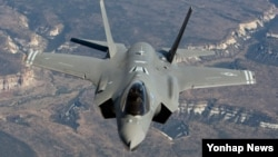 일본이 차세대 전투기로 낙점한 F-35A 스텔스 전투기. (자료사진)