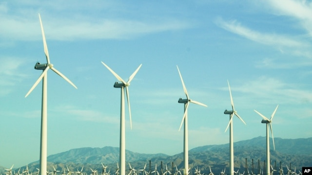 Wind turbines similar to these in California's Yucca Valley region are soon going to be part of Africa's largest wind farm, in northern Kenya (AP)