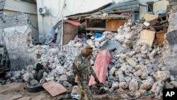 خرابیهای ناشی از حمله گروه تروریستی الشباب به موگادیشو، پایتخت سومالی - آرشیو