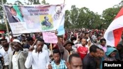 Faayilii - Namoota muummeen ministiraa Itoophiyaa, Dr. Abiyyi Ahimas Noobeelii Nagahaa badhafamuu isatiin gamachuu ibsachuu hiriira bahan, Amboo, Oromiyaa, Onk. 13 2019