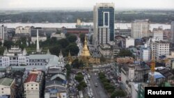 View of downtown Yangon, Myanmar
