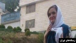 مریم نقاش زرگران، نوکیش مسیحی، که در زندان اوین دست به اعتصاب غذا زده است - عکس از محبت نیوز