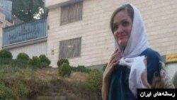 مریم نقاش زرگران، نوکیش مسیحی، که در زندان اوین محبوس شده بود - عکس از وبسایت محبت نیوز