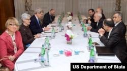 Pembicaraan nuklir Iran di Jenewa, Swiss.
