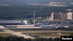 Base militar americana em Ramstein, Alemanha, 20 de julho 2020