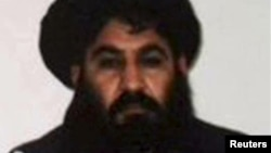 FILE - Mullah Akhtar Mohammad Mansoor, Taliban militants' new leader, is seen in this undated handout photograph by the Taliban.