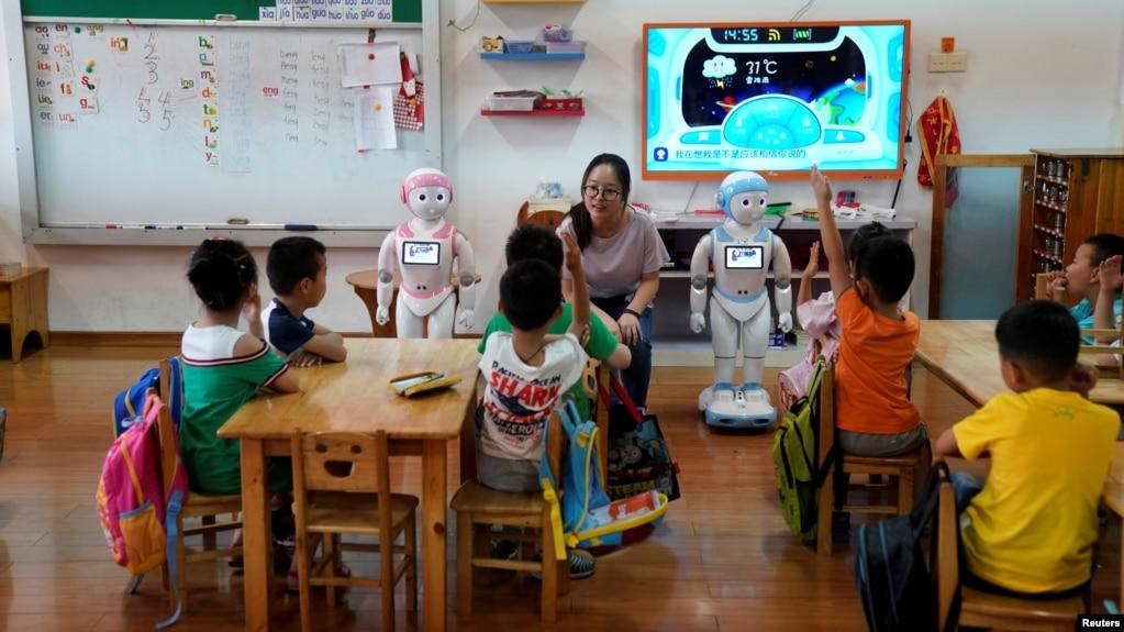Một lớp học mẫu giáo ở Trung Quốc.