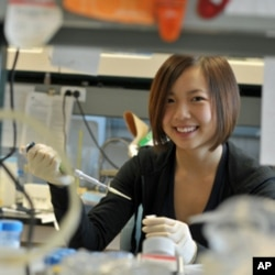 Selina Li, 17, is working on a more effective treatment for liver cancer. She placed fifth in the Intel Science Talent Search.