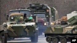 俄羅斯軍隊在克里米亞出動。