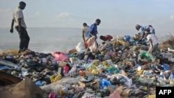 Discarded plastic is abundant at the Wadajir municipal dumping site in Mogadishu, Somalia. (File)