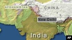 印度地理位置图(资料照片)