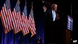 2016年8月31日共和党总统候选人川普就移民政策在凤凰城发表讲话。
