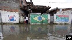 홍수로 넘치는 상 파울로 거리