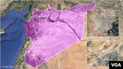Sites of reported cease-fire violations in Syria