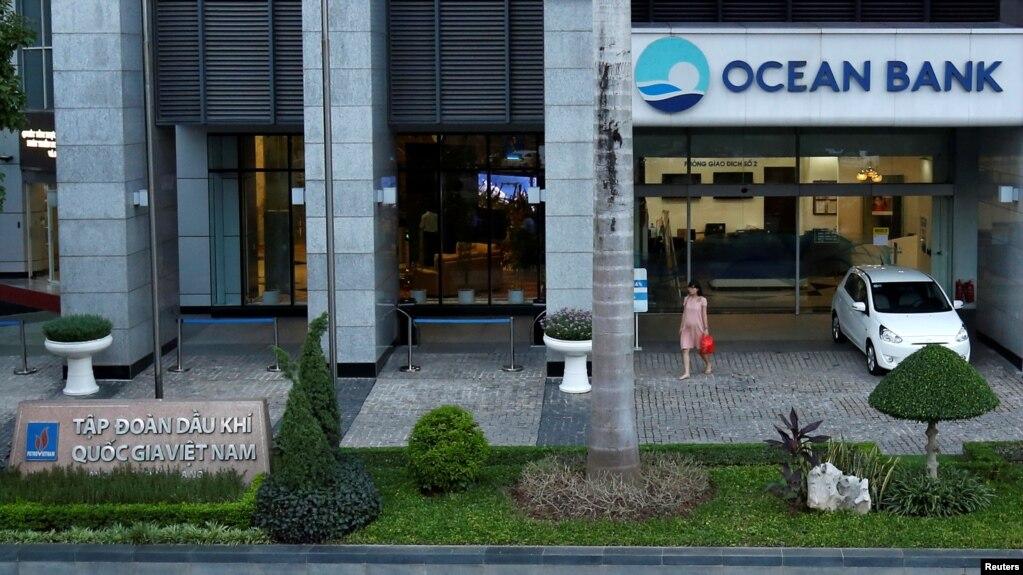 Một chi nhánh ngân hàng Ocean Bank tại Hà Nội.