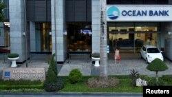 Chi nhánh ngân hàng Ocean Bank tại cao ốc Petro Vietnam ở Hà Nội (ngày 1/9/2017).