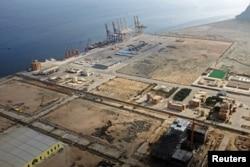 FILE - A general view of Gwadar port in Gwadar, Pakistan, Oct. 4, 2017.