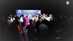 Conferencia de prensa convocada por la congresista demócrata por Florida, Frederica Wilson, el 23 de septiembre de 2021 en Miami, Florida, EE. UU.