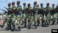 Quelques éléments de l'armée tchadienne. (Photo VOA)