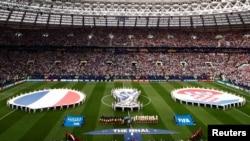 Trận chung kết Pháp và Croatia diễn ra tại sân vận động Luzhniki ở Moscow.