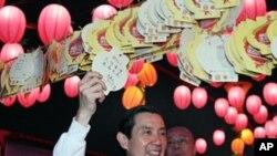 馬英九總統觀賞花燈