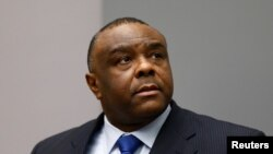 FILE - Jean-Pierre Bemba of the Democratic Republic of the Congo sits in the courtroom of the International Criminal Court in The Hague, June 21, 2016.
