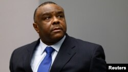 FILE - Jean-Pierre Bemba Gombo of the Democratic Republic of the Congo sits in the courtroom of the International Criminal Court (ICC) in The Hague, June 21, 2016.