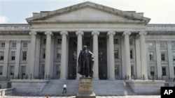 미국 재무부 건물 (자료사진)