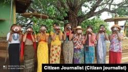 ကဆုန္ေညာင္ေရသြန္းသပိတ္ (ဓါတ္ပုံ CJ)