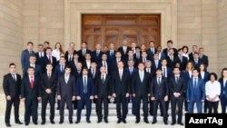 Azərbaycan prezidenti idmançıları qəbul edib