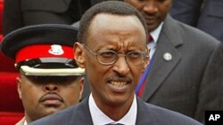 FILE - Rwandan president Paul Kagame during a conference in Nairobi, Kenya.