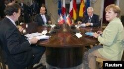 西班牙、法国、意大利和德国的领导人6月22日在罗马举行会晤