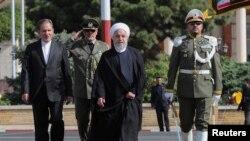하산 로하니 이란 대통령이 23일 유엔총회가 열리는 뉴욕으로 가기 위해 메흐라바드 공항에 도착했다.