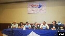 Conferencia de la Asociación de Periodistas y Comunicadores Independientes de Nicaragua donde denunciaron agresiones de los últimos dos meses. Foto: Daliana Ocaña/ VOA.