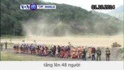 Số người tử vong do núi lửa Ontake phun trào tăng lên 48 người